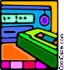 portable cassette player Vector Clipart illustration