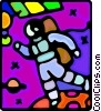 astronaut Vector Clipart graphic