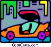 Vector Clipart image  of a sports car