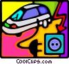 electric car Vector Clipart picture