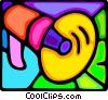 Vector Clip Art image  of a megaphone