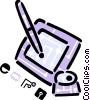 Vector Clip Art graphic  of a Graphics Tablets