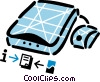 Vector Clip Art image  of a Flatbed Scanners