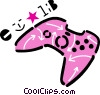 Video Game Consoles Vector Clipart graphic