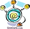 Global Networks Vector Clipart image