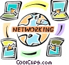 Vector Clipart picture  of a Global Networks