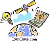 Vector Clipart illustration  of a Global Networks