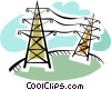 Vector Clipart image  of a Hydro Towers