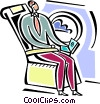 Vector Clip Art graphic  of a Passenger Compartment