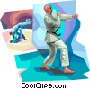 Vector Clipart picture  of a Judo