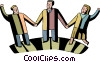 Teamwork and Cooperation Vector Clip Art picture