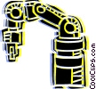Vector Clipart illustration  of an Automation
