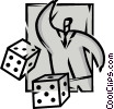 Vector Clipart image  of a Risk