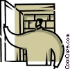 Vector Clip Art image  of a Doorways