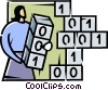 Vector Clip Art graphic  of a Programming