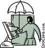 Vector Clip Art image  of a Businesswomen