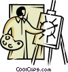 Vector Clip Art picture  of a painters