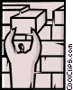 Vector Clipart illustration  of a Brick Layers