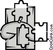 Pieces of a Puzzle Vector Clip Art graphic
