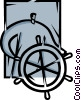 Captain's Wheel Vector Clip Art picture