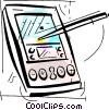 Personal Organizers Digital Assistants, PDA's Vector Clipart graphic