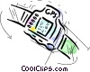 GPS/watch Vector Clipart illustration