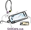 Vector Clip Art image  of a Portable Cassette Players