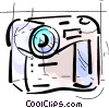 Vector Clipart illustration  of a Video Cameras