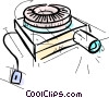 Vector Clipart picture  of a Slide Projectors