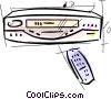 Vector Clip Art image  of a Videotape Recorders
