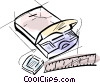 slide projector Vector Clipart graphic
