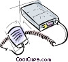 Vector Clip Art picture  of a cb radio