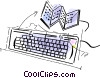 Keyboards Vector Clip Art picture