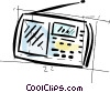 Vector Clipart picture  of a portable television