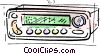 Vector Clip Art image  of a car stereo