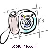 Vector Clipart illustration  of a digital camera
