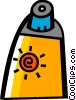 Vector Clip Art graphic  of a Sun Tan Lotion