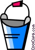 Buckets and Pails Vector Clip Art picture