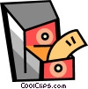 Vector Clip Art image  of a Filing Cabinets