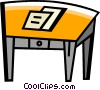 Vector Clipart picture  of a Work desks