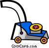 Lawnmowers Vector Clipart illustration