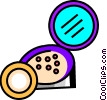 Vector Clip Art graphic  of a Compacts