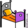Vector Clipart image  of a Beds