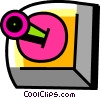 Vector Clip Art graphic  of a Video Game Consoles