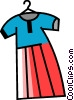 Vector Clipart graphic  of a Dresses