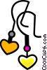 Earrings Vector Clip Art image