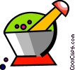 Mortar and Pestle Vector Clip Art image