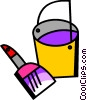 Vector Clip Art graphic  of a Paint Cans