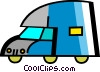 Vector Clip Art graphic  of a Mid-Size Trucks