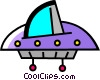 UFO Vector Clipart illustration